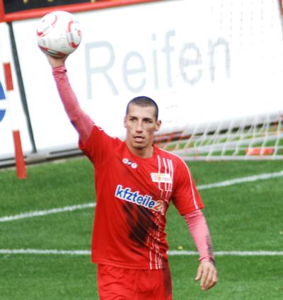 Karim Benyamina nach dem Ausgleich zum 1:1.