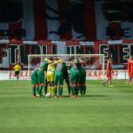 Düsseldorfs Mannschaft vor Anpfiff.