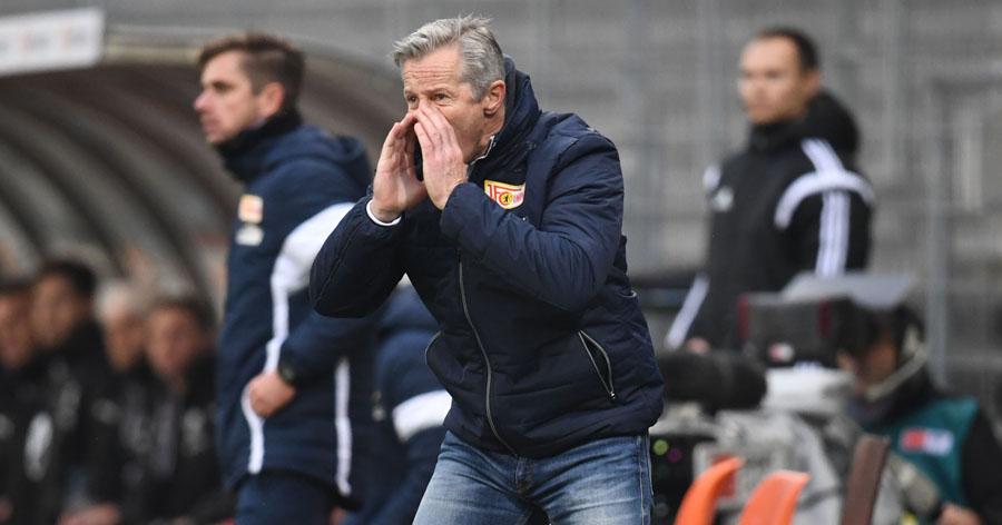 Fussball, Herren, 2. Bundesliga, Saison 2016/2017     (14. Spieltag), SV Sandhausen - 1. FC Union Berlin 0:1, Trainer Jens Keller (1. FC Union Berlin), 27.11. 2016, Foto: Matthias Koch