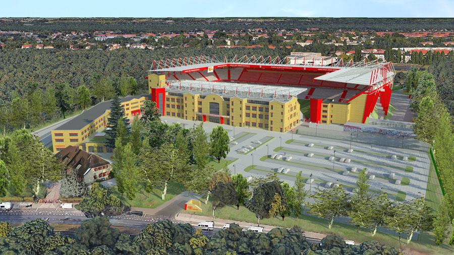 Modell des Stadions an der Alten Försterei nach dem Ausbau, Foto: 1. FC Union Berlin