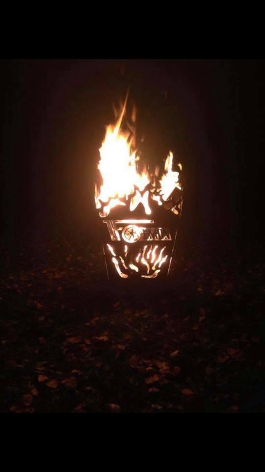 Feuerkorb der Uniontanke, Bild via Uniontanke Facebook