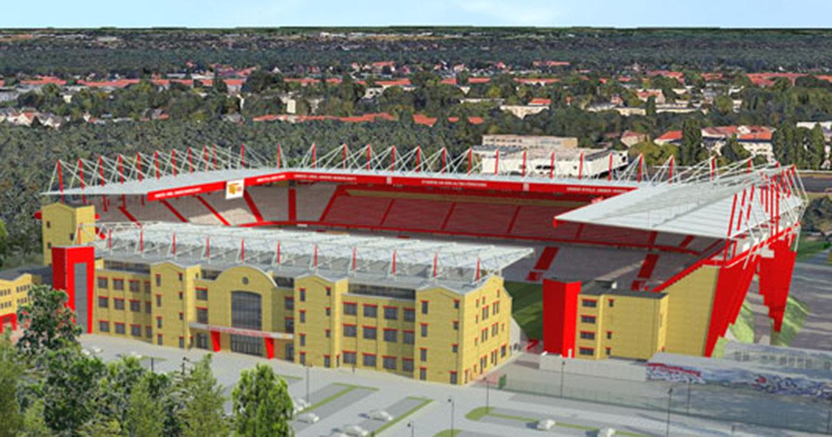 Modell des Stadions an der Alten Försterei nach Ausbau, Bild: 1. FC Union Berlin