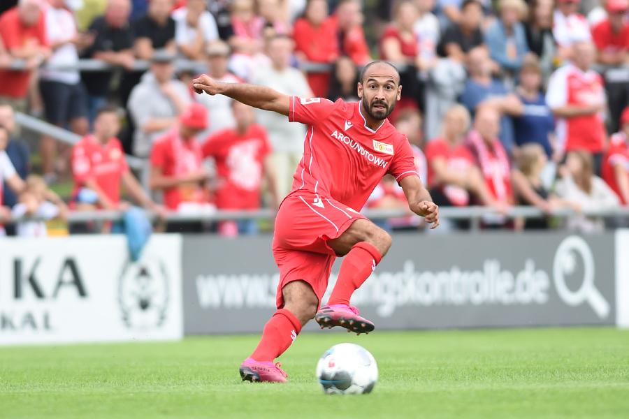 Andy Gogia vom 1. FC Union Berlin beim Test gegen Lichtenberg 47