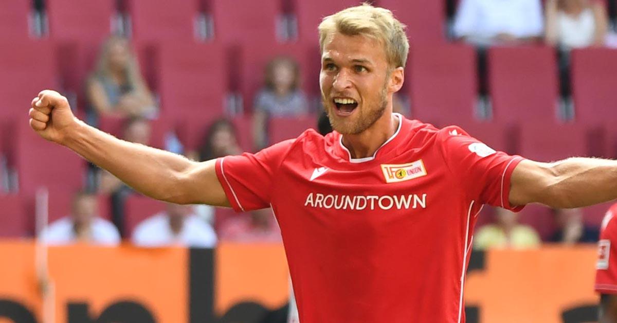 Sebastian Andersson nach seinem Bundesliga-Tor beim 1:1 gegen den FC Augsburg