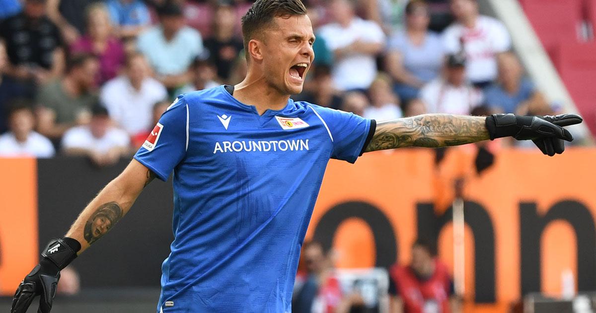 Rafal Gikiewicz, Torhüter des 1. FC Union Berlin beim 1:1 in Augsburg