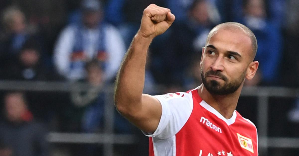 Akaki Gogia jubelt nach seinem Tor für den 1. FC Union Berlin