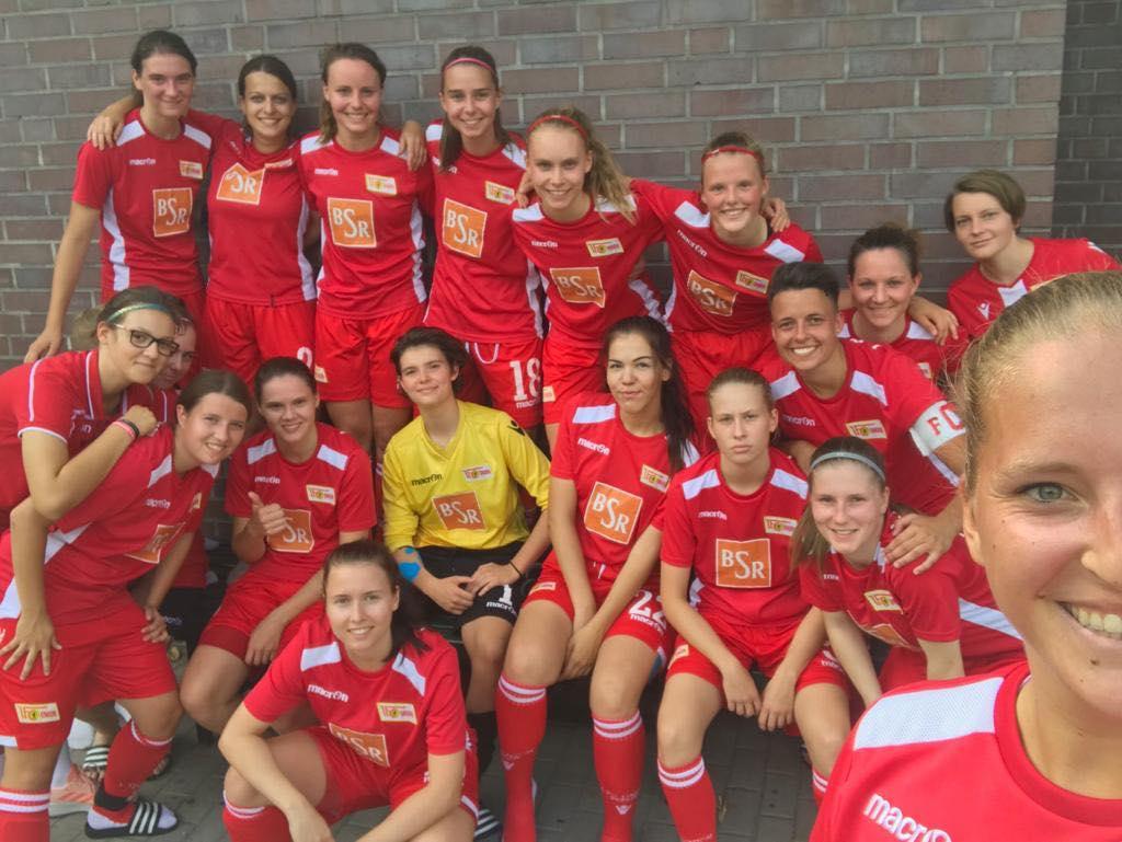 Siegerselfie der 2. Frauen des 1. FC Union Berlin nach dem Sieg über Berolina, Foto: 1. FC Union Berlin Frauen