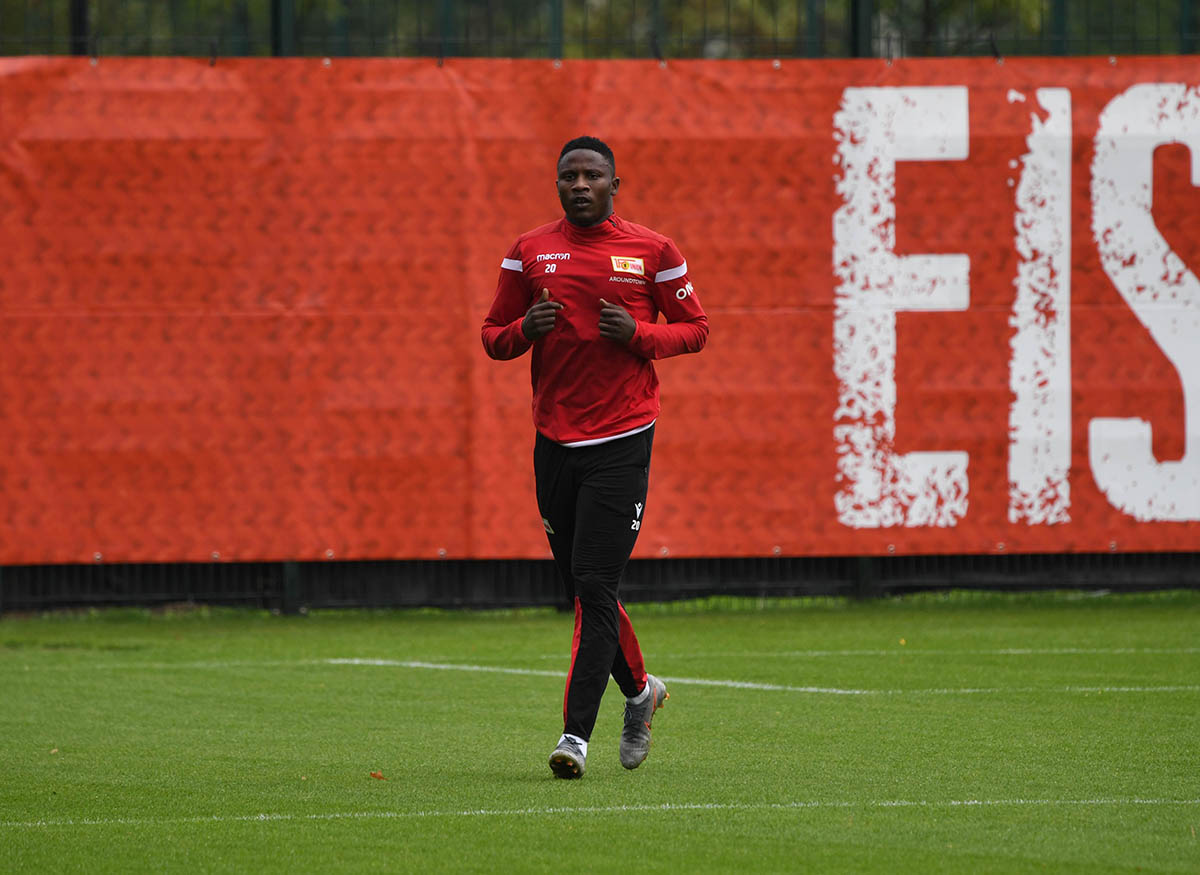Suleiman Abdullahi (1. FC Union Berlin) beim Training am 01.10. 2019, Foto: Matze Koch