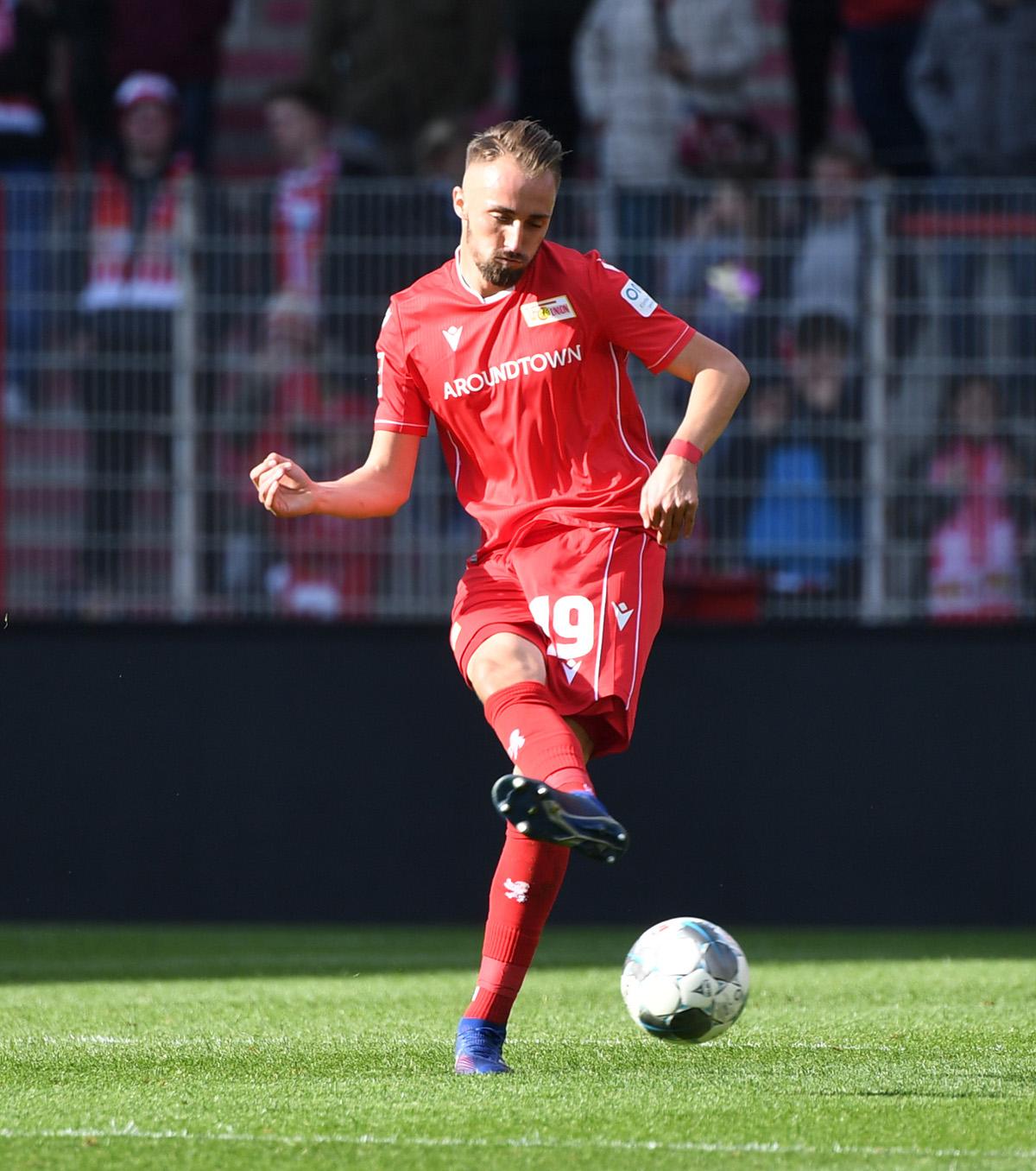 Florian Hübner (1. FC Union Berlin) im Testspiel gegen Dynamo Dresden