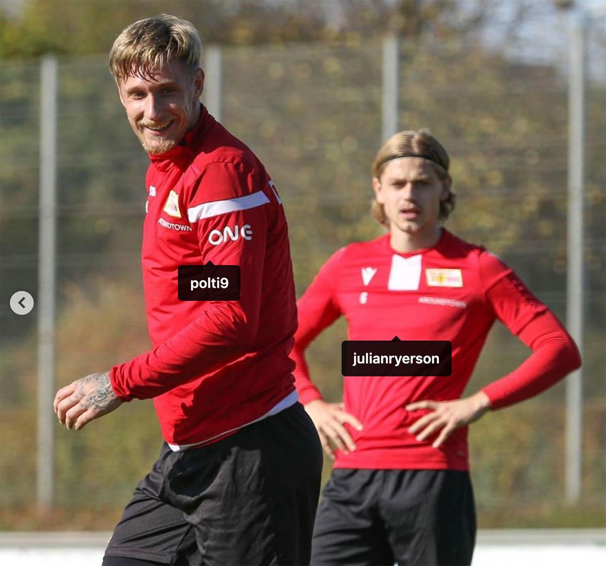 Sebastian Polter und Julian Ryerson (beide 1. FC Union Berlin) könnten gegen den SC Freiburg in die Mannschaft rotieren