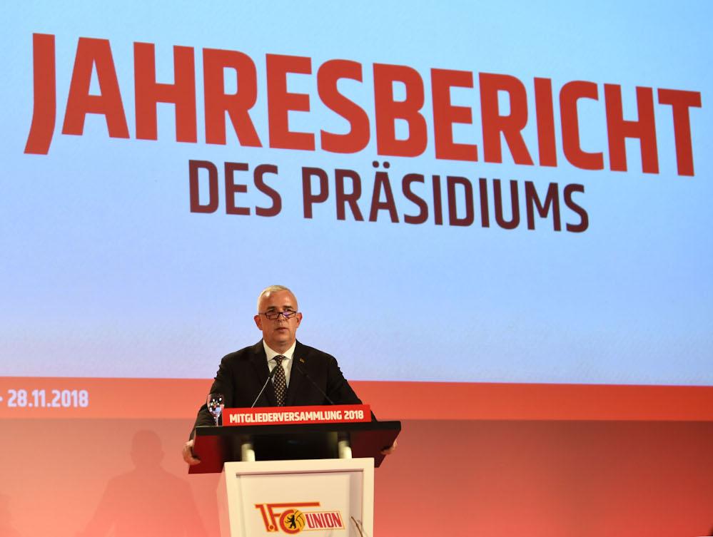 Dirk Zingler Mitgliederversammlung