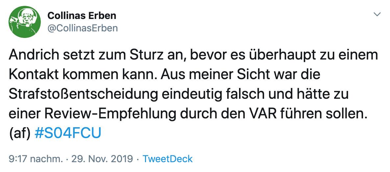 Alex Feuerherdt vom Schiedsrichter-Podcast Collinas Erben hat eine deutliche Meinung zum Elfmeterpfiff für Robert Andrich