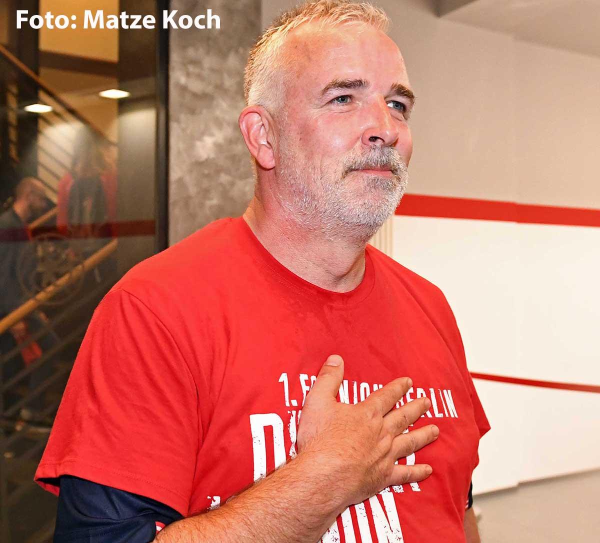 Präsident Dirk Zingler nach dem Aufstieg in die Bundesliga