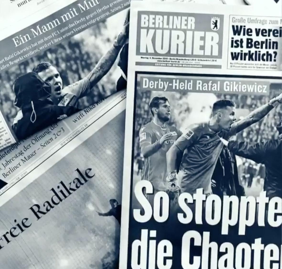 Medienberichterstattung nach dem Berliner Derby