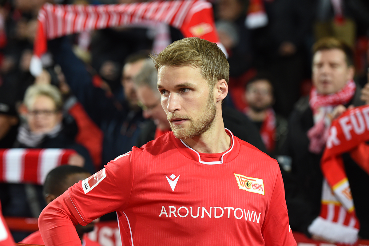 Stürmer Sebastian Andersson hat seinen Vertrag beim 1. FC Union Berlin verlängert, Foto: Stefanie Fiebrig