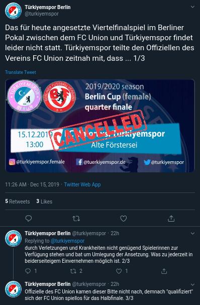 Türkiyemspor Union Twitter