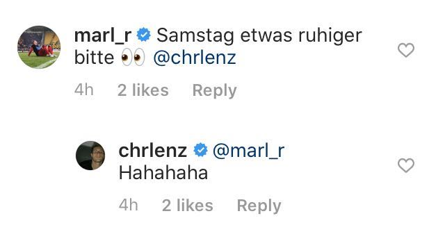 Marlon Ritter hofft auf einen weniger guten Auftritt von Christopher Lenz in Paderborn, Screenshot: Instagram