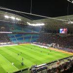 Der leere Gästeblock im Zentralstadion, Foto: MC Lücke