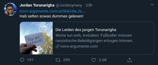 Jordan Torunarigha Rassismus Professor