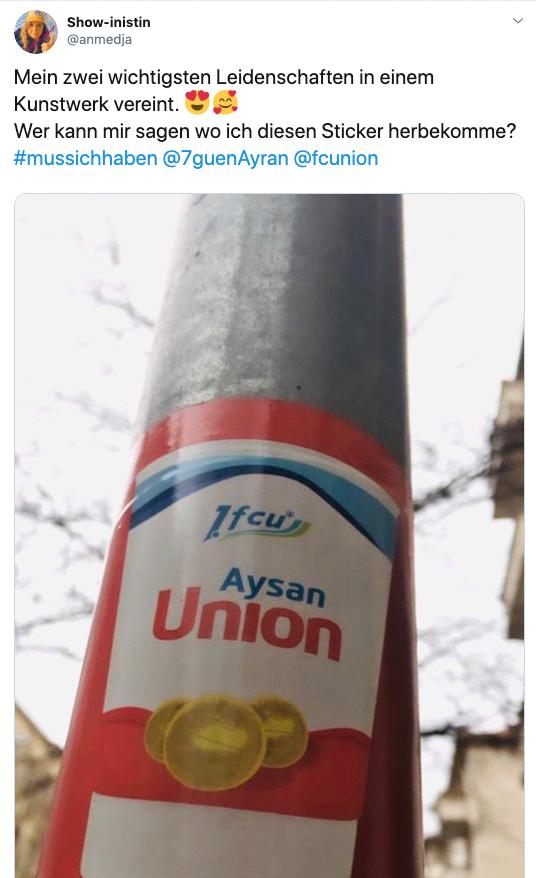 Aysan-Union-Aufkleber