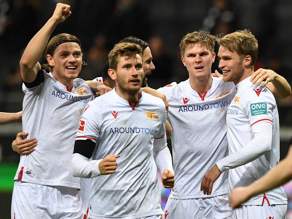 Jubel nach dem Tor zum 1:0 gegen Frankfurt, Foto: Matze Koch