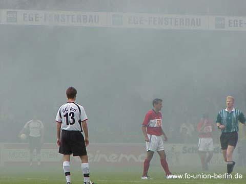 Daniel Teixeira bei Unions Auftritt in Verl 2001. Foto: 1. FC Union Berlin