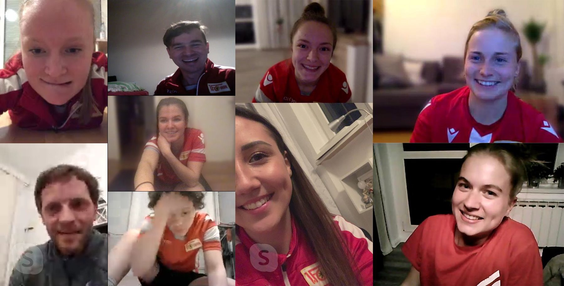 Fitnesstraining remote beim Team der Frauen, Facebook: 1. FC Union Berlin Frauen