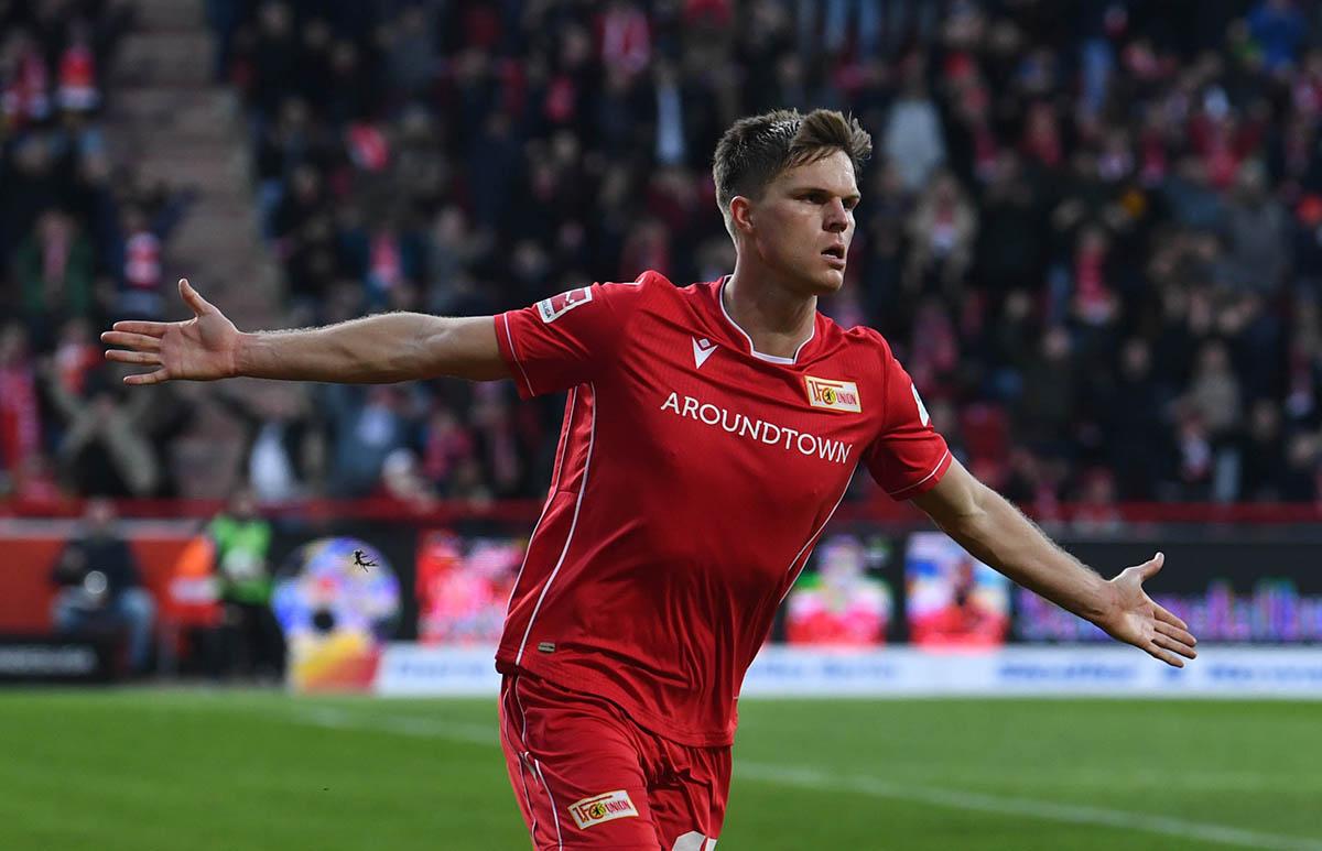 Marius Bülter jubelt nach seinem Tor gegen Leverkusen am 15.2.2020, Foto: Matze Koch
