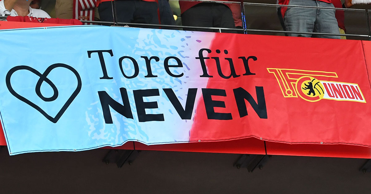 """Banner """"Tore für Neven"""","""