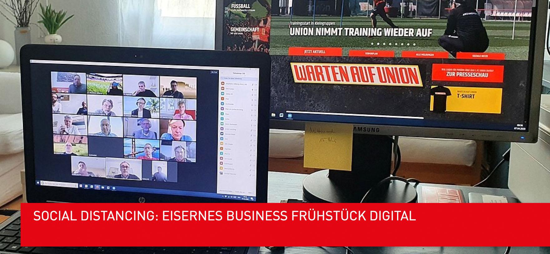 Ankündigung des digitalen Business-Frühstücks des Wirtschaftsrats, Bild via Wirtschaftsrat des 1. FC Union Berlin