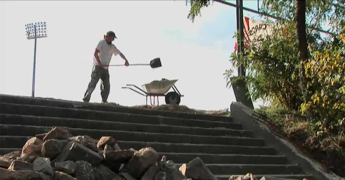 Der Stadionbau 2009 ist das Thema des Films Eisern vereint, Foto: Eisern vereint