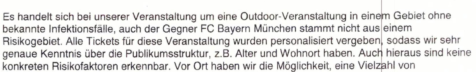 Mail des 1. FC Union vom 9. März an das Gesundheitsamt Treptow-Köpenick, Screenshot: fragdenstaat.de