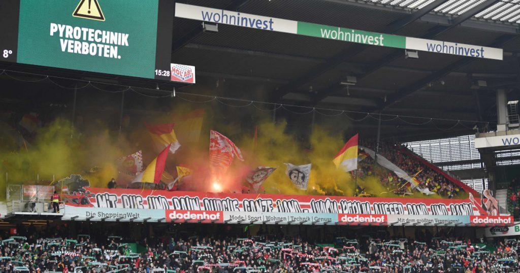 Union-Fans auswärts in Bremen