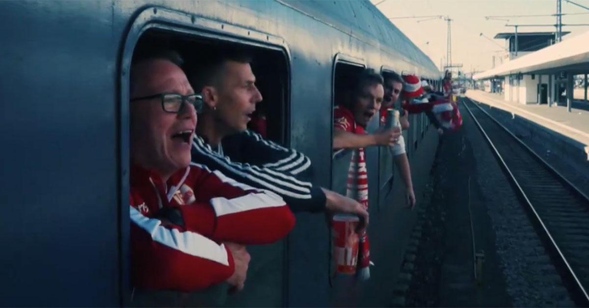 Unionfans im Sonderzug, Screenshot: Dit is Union, verstehste