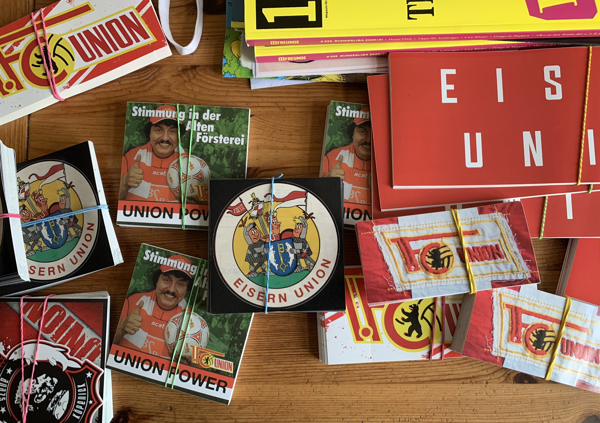 Union-Sticker, Foto: Sebastian Fiebrig
