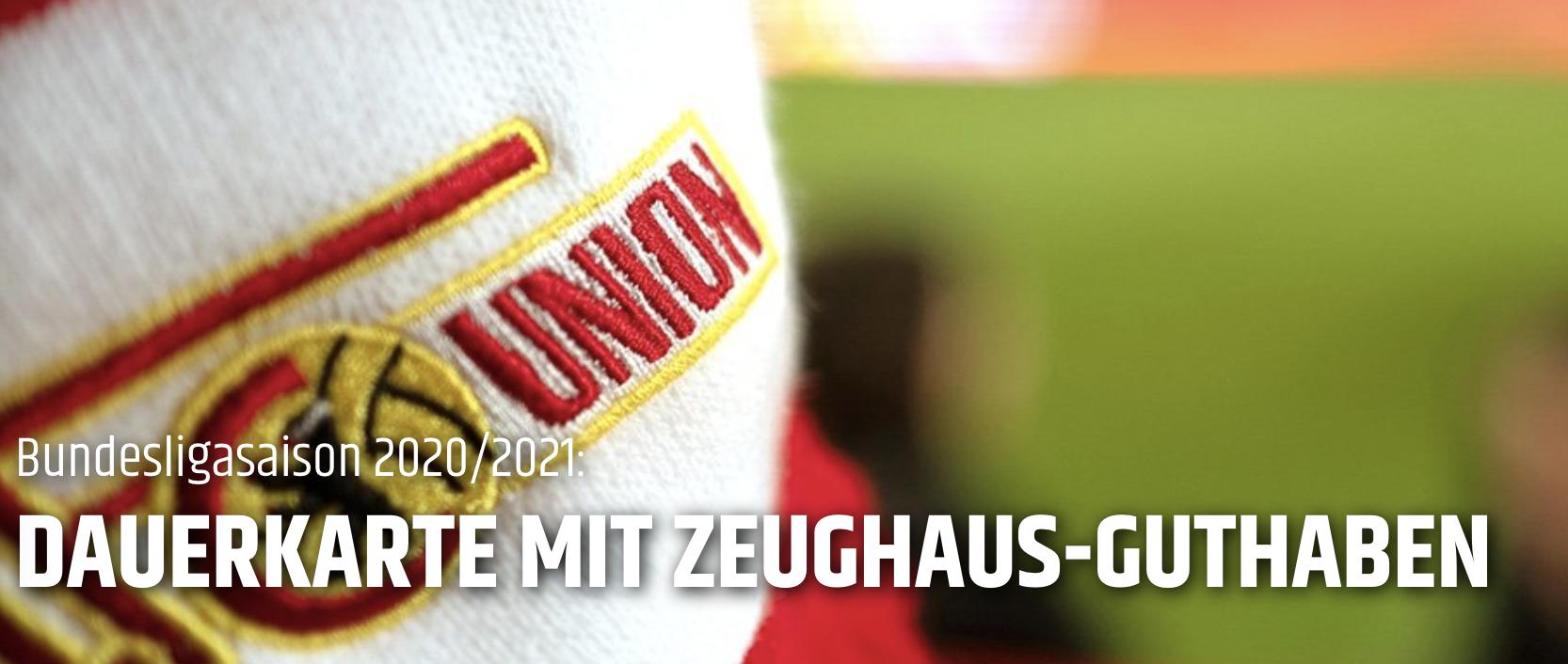 So kündigt Union den Dauerkartenverkauf auf der Website an, Screenshot: 1. FC Union