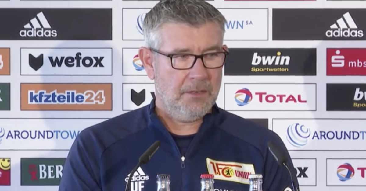 Trainer Urs Fischer bei der Pressekonferenz vor dem DFB-Pokalspiel gegen den Karlsruher SC, Foto: AFTV