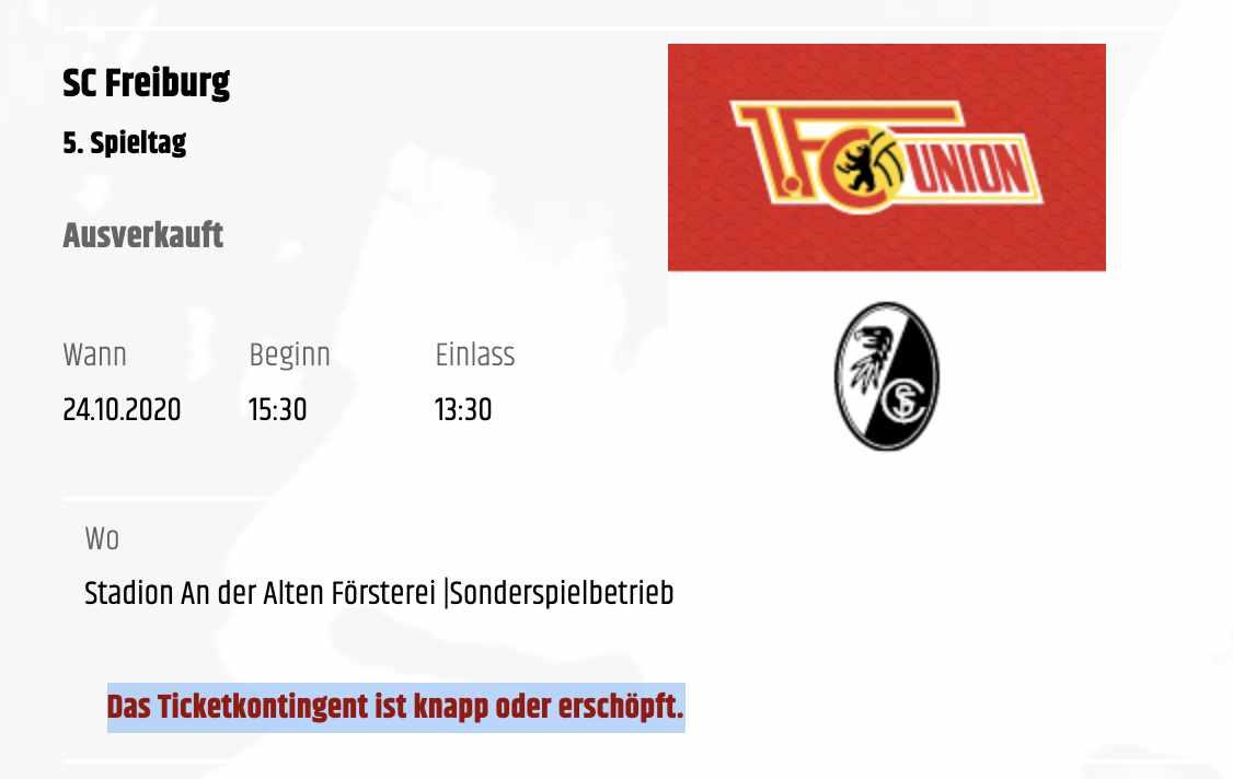 Aktuelle Meldung im Fanshop, Screenshot Union Zeughaus