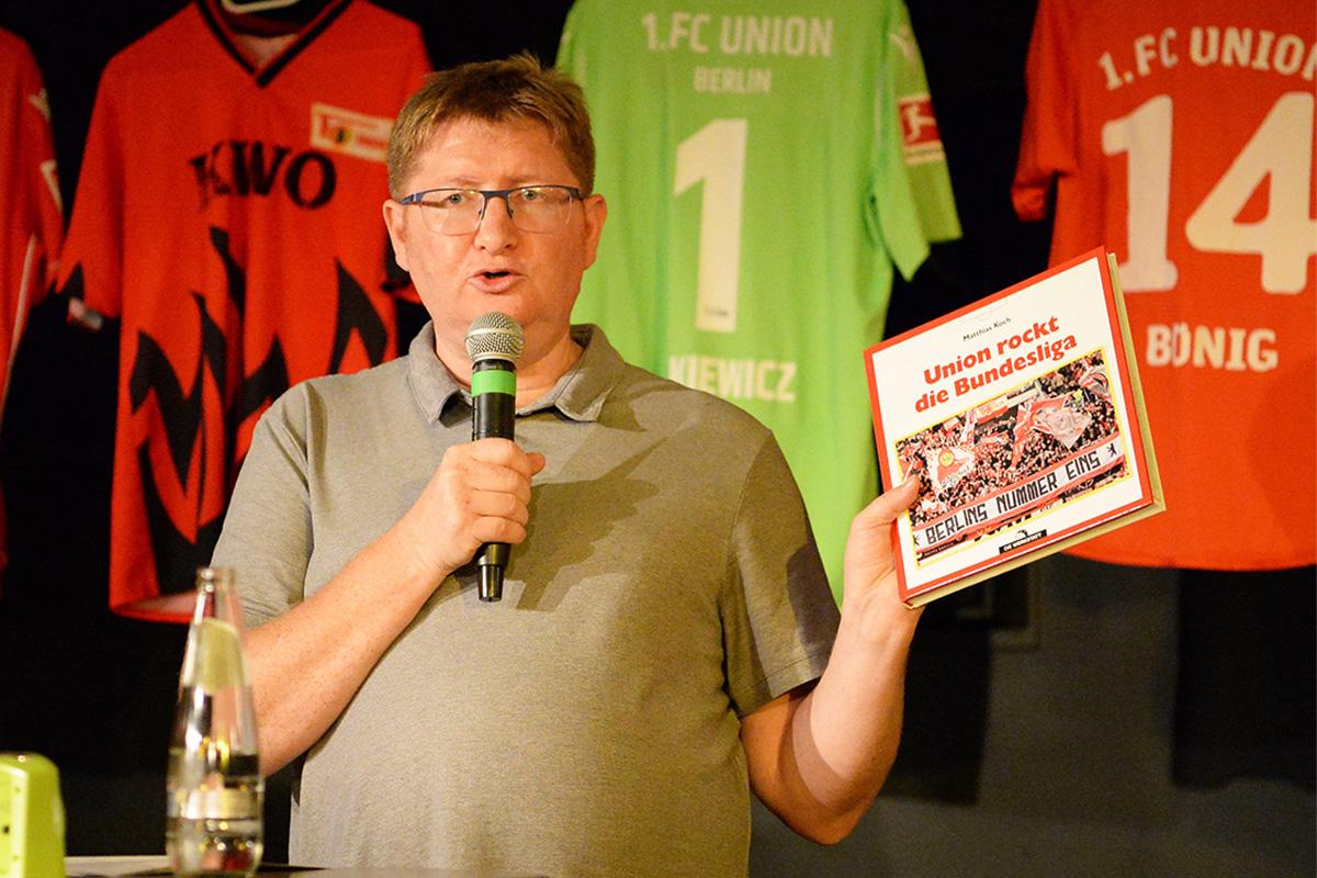 """Autor Matthias Koch präsentiert sein neues Buch """"Union rockt die Bundesliga"""""""