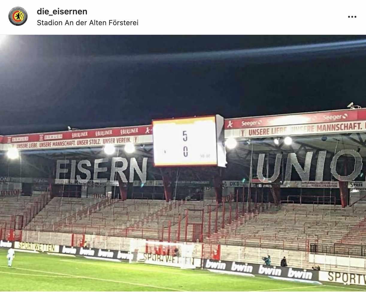 Das 5:0 ist Unions höchster Bundesliga-Sieg, Instagram: Die Eisernen