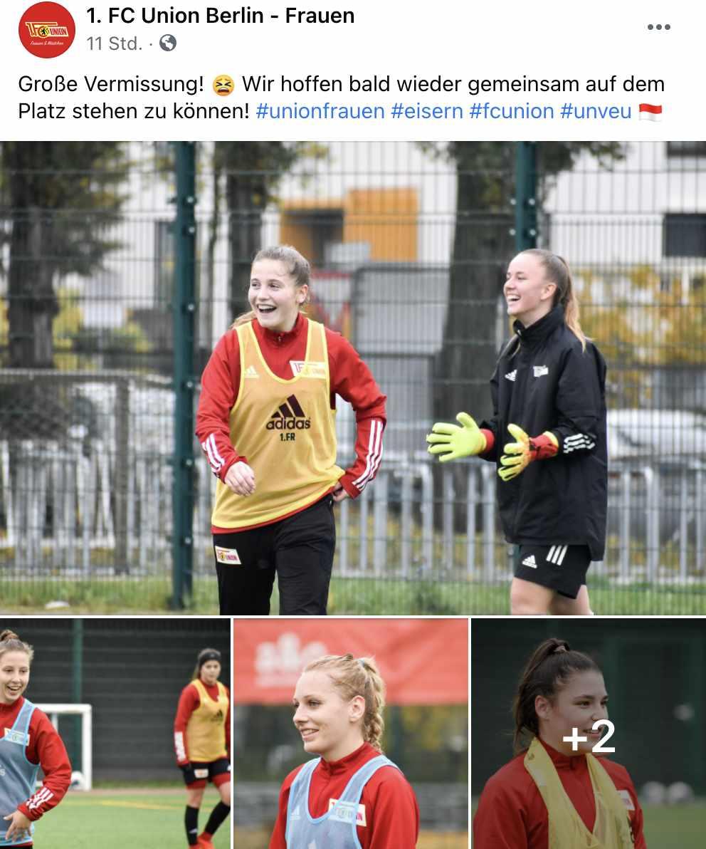 Bilder vom Training bei den Frauen-Teams von Union, als das noch möglich war, Bilder: 1. FC Union Berlin Frauen