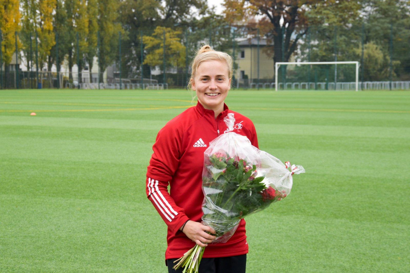 Josy Ahlswede spielt seit 10 Jahren im ersten Frauenteam, Foto: 1. FC Union Berlin