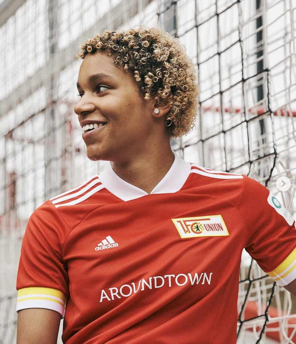 Josi Bonsu auf dem Foto der Adidas-Trikot-Kampagne, Foto: Adidas