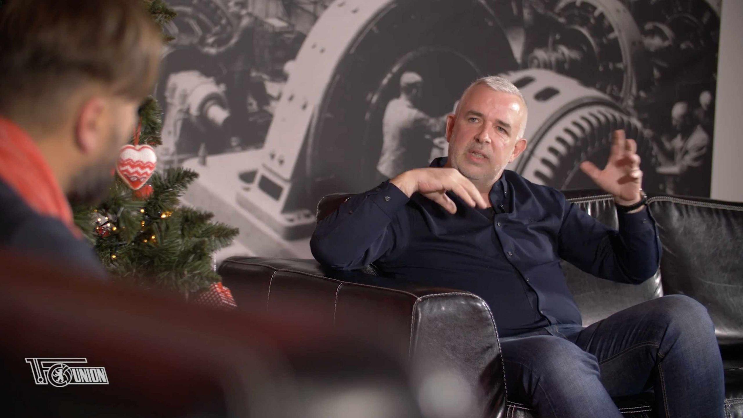 Dirk Zingler erklärte Unions Suche nach Möglichkeiten, Veranstaltungen mit Zuschauern anzubieten, Screenshot: AFTV