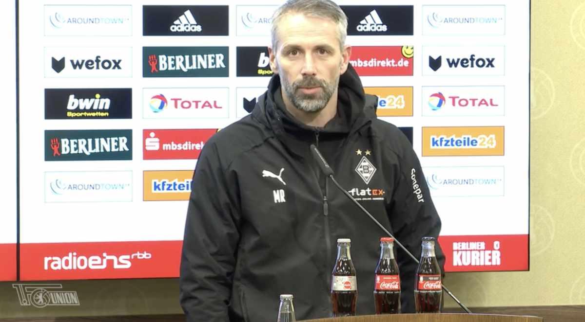 Marco Rose lobte Union auf der Pressekonferenz, Screenshot via AFTV