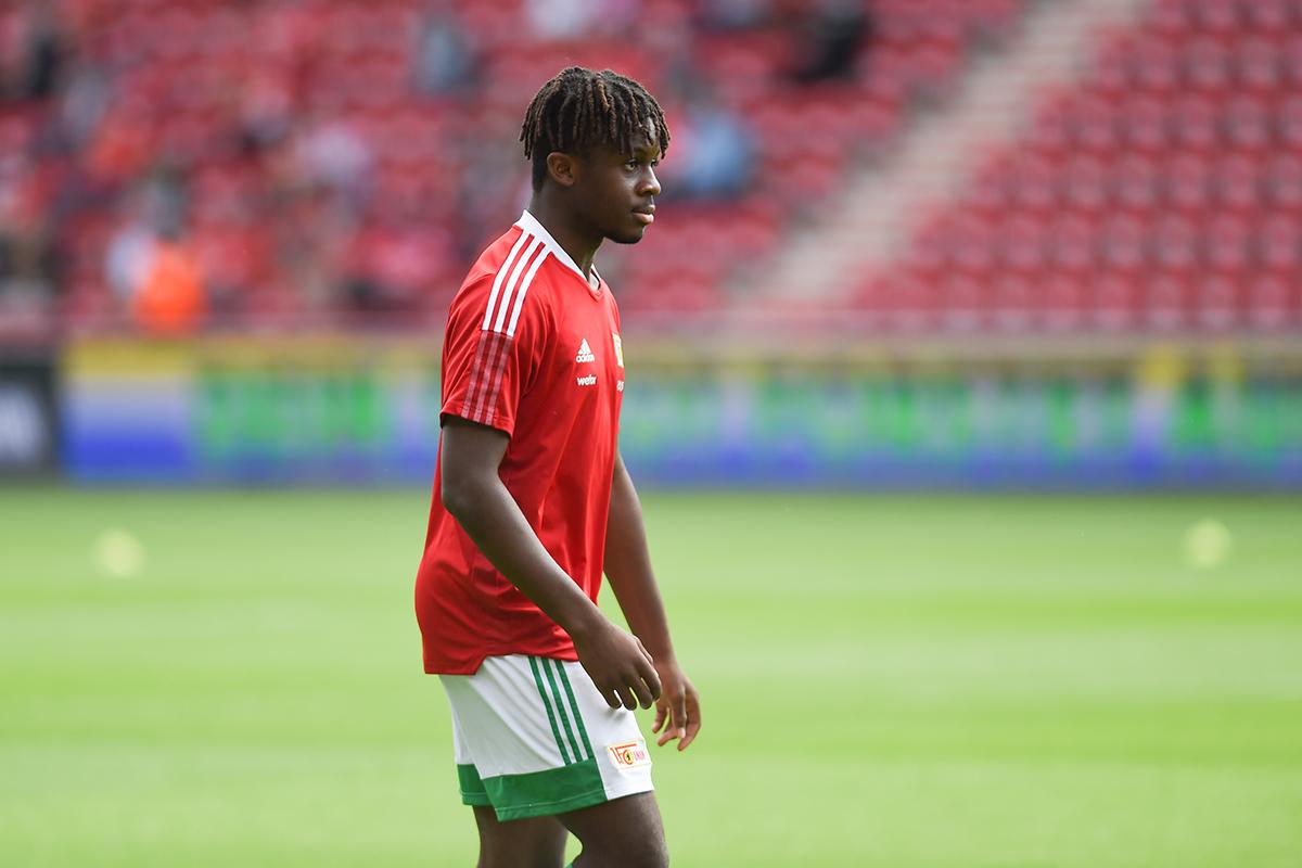 Malick Sanogo ist mit 17 Jahren noch für die A-Junioren spielberechtigt, trainierte aber während der Corona-Einschränkungen bei den Profis mit. Foto: Stefanei Fiebrig