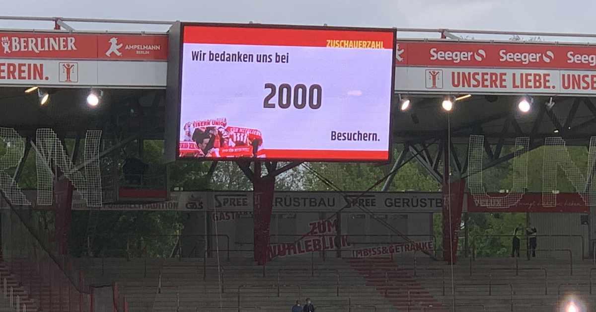 Vielleicht dürfen zum Saisonauftakt gegen Dukla Prag doch mehr als 2000 Unionfans ins Stadion. Foto: Sebastian Fiebrig
