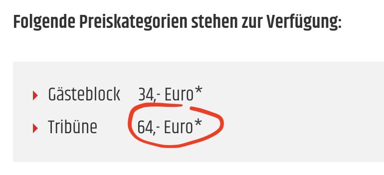 1000 Tickets kosten 64 Euro das Stück, Screenshot: 1. FC Union