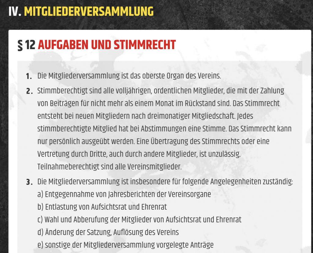 Union Berlin Satzung
